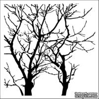 Маска The Crafter's Workshop - Mini Template Branches Reversed, 15х15 см