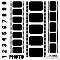 Маска The Crafter's Workshop - Mini Template Filmstrips, 15х15 см
