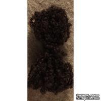 Волосы для куклы Tilda, цвет черный (брюнет)