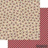 Лист двусторонней бумаги Teresa Collins - Candy Cane Lane - Holly, размер 30х30 см