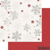 Лист двусторонней бумаги Teresa Collins - Candy Cane Lane - Snowflakes, размер 30х30 см