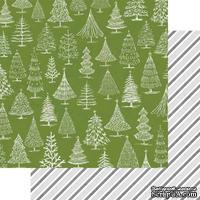 Лист двусторонней бумаги Teresa Collins - Candy Cane Lane - O Christmas Tree, размер 30х30 см