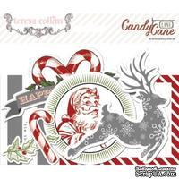 Набор высечек из кардстока Teresa Collins - Candy Cane Lane - Ephemera Pack