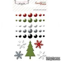 Эмалевые украшения Teresa Collins - Candy Cane Lane - Enamel Dots and Shapes, 40 штук
