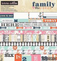 Набор двусторонней скрапбумаги Teresa Collins Designs - Family Stories - Paper Pad, 15х15 см