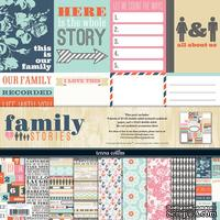 Набор скрапбумаги и декора Teresa Collins Designs - Family Stories - Collection Pack, 30х30 см