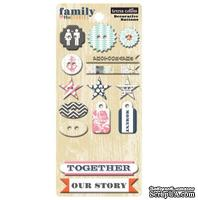 Пуговицы Teresa Collins Designs - Family Stories - Chipboard Buttons