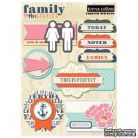 Набор наклеек Teresa Collins Designs - Family Stories - Layered Stickers