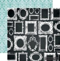 Лист двусторонней скрапбумаги Teresa Collins Designs - Memorabilia - Frames, 30х30 см
