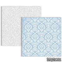 Лист двусторонней бумаги Teresa Collins - Stationery Noted - Damask Paper, размер 30х30 см