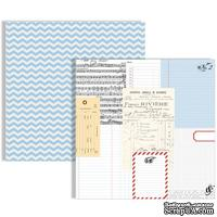 Лист двусторонней бумаги Teresa Collins - Stationery Noted - Ledgers Paper, размер 30х30 см