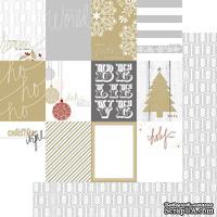 Лист двусторонней бумаги Teresa Collins - Tinsel and Company - Cards, размер 30х30 см