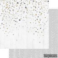 Лист двусторонней бумаги Teresa Collins - Tinsel and Company - Stars, размер 30х30 см