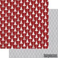 Лист двусторонней бумаги Teresa Collins - Tinsel and Company - Trees, размер 30х30 см