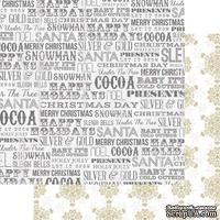 Лист двусторонней бумаги Teresa Collins - Tinsel and Company - Words, размер 30х30 см