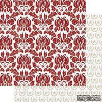 Лист двусторонней бумаги Teresa Collins - Tinsel and Company - Damask, размер 30х30 см