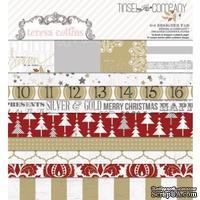 Набор двусторонней бумаги Teresa Collins - Tinsel and Company - Pad, размер 15х15 см