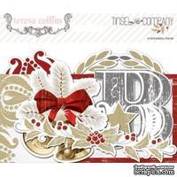Набор высечек из кардстока Teresa Collins - Tinsel and Company - Ephemera Pack