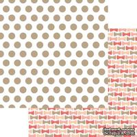 Лист двусторонней скрапбумаги с фольгированием Teresa Collins Designs - You Are My Happy - Dots Foiled, 30х30 см
