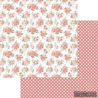Лист двусторонней скрапбумаги Teresa Collins Designs - You Are My Happy - Pretty Flowers, 30х30 см