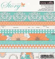Набор бумаги Teresa Collins Designs - Tell Your Story - 6x6 Pad, 15х15 см, 24 листа