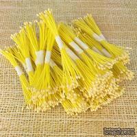 Тайские тычинки для гибискуса, мелкие светло-желтые, светло - желтые, в пучке 46-52 шт.