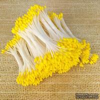 Тайские тычинки с каплевидными головками, цвет ярко-желтый, 46-52 шт.
