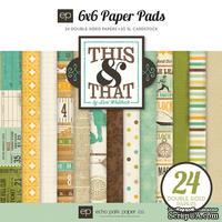 "Набор бумаги от Echo Park ""This & That Charming"", 15х15, 24 листов"