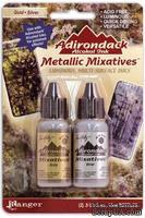 Алкогольные чернила Ranger - Gold/Silver Metallic Mixative, 2 шт.