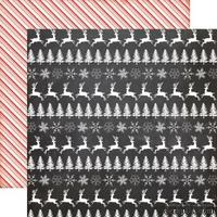 Лист двусторонней бумаги от Echo Park - Dashing Reindeer Paper