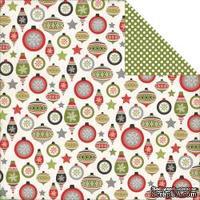 Лист двусторонней бумаги от Echo Park - Seasonal Ornaments Paper