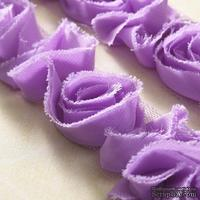 Лента с цветами Webster's Pages - Bloomer Lavender, ширина 3,5-4 см, длина 30 см