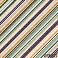 Лист скрапбумаги от Echo Park - Boy Stripes, 30х30 см
