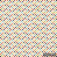 Лист скрапбумаги от Echo Park - Boy Dots, 30х30 см
