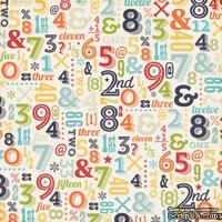 Лист скрапбумаги от Echo Park - Numbers, 30х30 см