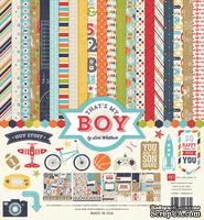 Набор бумаги от Echo Park  - That's My Boy, 30х30см, 12+2 листов