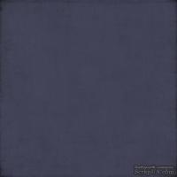 Лист скрапбумаги от Echo Park - Navy/Lt. Blue Distressed Solid, 30х30 см