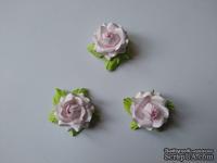 Розочка, цвет розовый, 22х12мм, 1 шт.