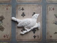 Гипсовое украшение - Птичка на веточке, 5х4см