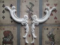 Гипсовое украшение - Уголки декоративные, длина 11,2 см, 2 шт.