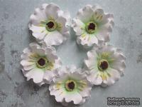 Дикий мак из фоамирана,  диаметр 5 см, цвет белый, 1 шт.