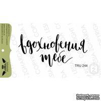 Акриловый штамп Lesia Zgharda TRU244 Вдохновения тебе, 6,1*2,9 см.