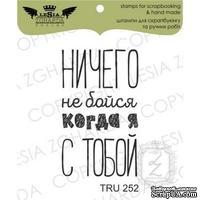 Акриловый штамп Lesia Zgharda TRU252 Ничего не бойся когда я с тобой, 2,2*3,7 см.
