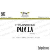 Акриловый штамп Lesia Zgharda Открывай новые МЕСТА TRU293