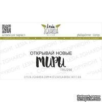 Акриловый штамп Lesia Zgharda Открывай новые МИРЫ TRU294