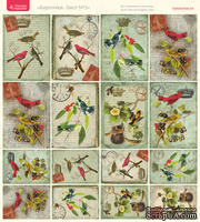 Лист с картинками от Тамары Старцевой - №02, 20,4х21,5 см, 16 шт.