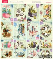 Лист с картинками от Тамары Старцевой - №21, 20,4х21,5 см, 16 шт.