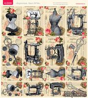 Лист с картинками от Тамары Старцевой - №34, 20,4х21,5 см, 16 шт.