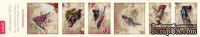 Полоски с картинками от Тамары Старцевой - №5, 21,5 см, 6 шт.