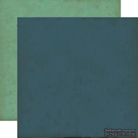 Лист двусторонней бумаги от Echo Park - Navy/Teal, Times & Seasons, 30x30 см